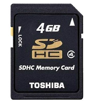 Toshiba 4GB SD Card SDHC Class 4 Flash Memory Card C4 P-SDHC4G4 Genuine High Speed Memory SD For Digital Cameras