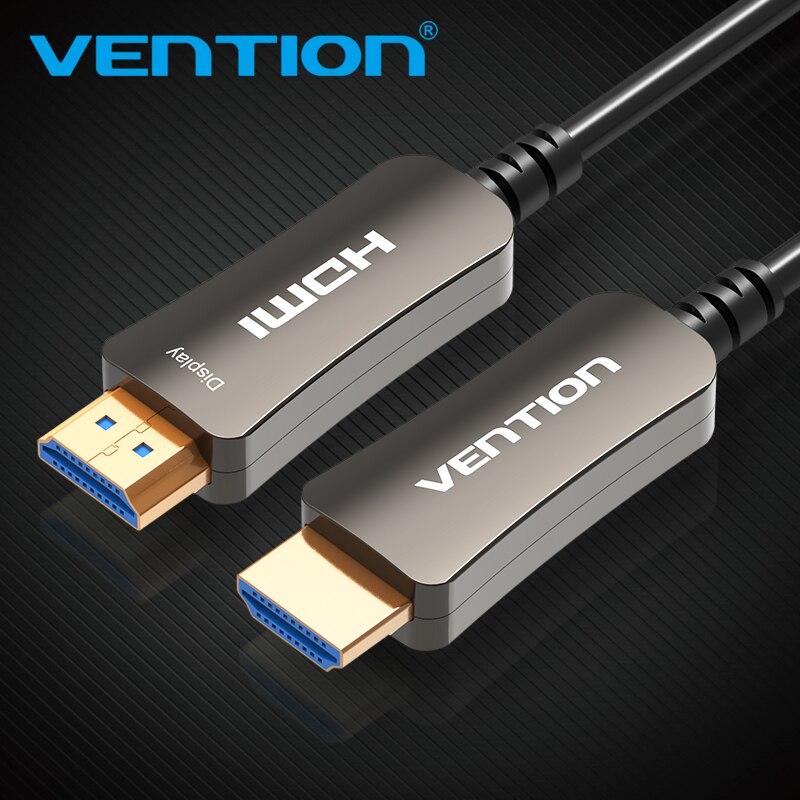 Vention HDMI câble Fiber optique HDMI 2.0 mâle à mâle câble Support 4 K 3D pour HD TV ordinateur portable lcd PS3 projecteur ordinateur câble
