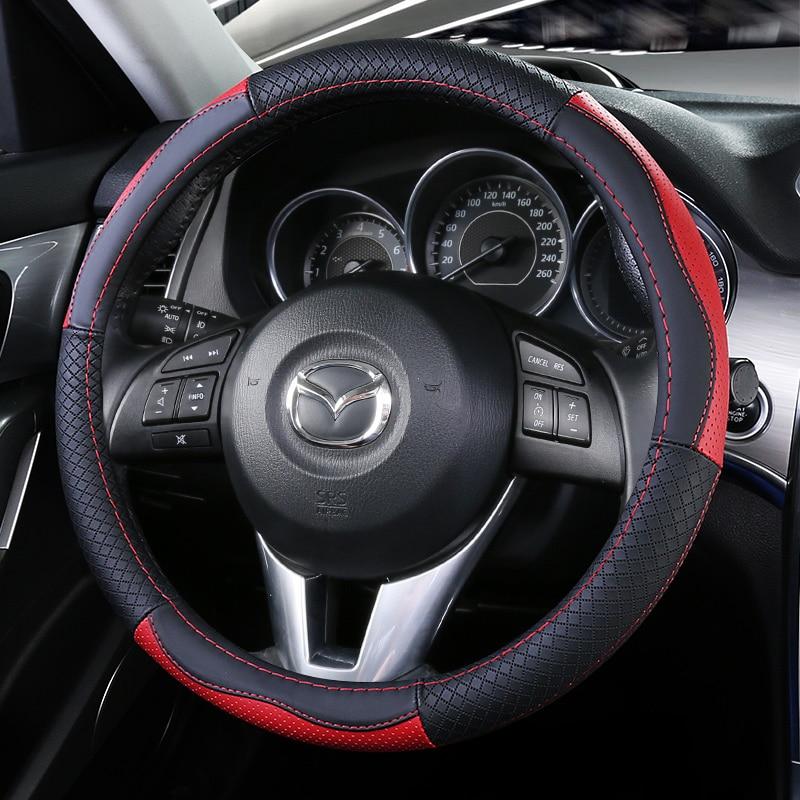 Top Layer Leather Wheel Steering Covers for Mazda 2 Demio Mazda3 Atenza Mazda6 CX 3 CX 4 CX 5 CX 8 CX 9 Wagon BT 50 Premacy 5 7