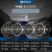 新オリジナルzeblazeバイブ4ハイブリッドスマート腕時計サファイアガラス頑丈なハイブリッドスマートウォッチ50メートル防水33 月スタンバイ時間