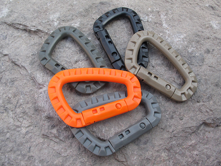 5-piece ITW Medium Tactical Hiking Accessories Outdoor Carabiner Trekking Backpack Buckle  Plastic Carabiner Outdoor Safety Buck