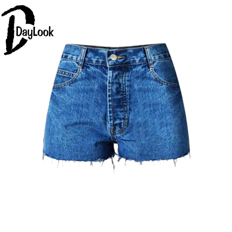 DayLook DayLook Spring Fashion Women High Waist Jeans Denim Shorts Street Style All Match Celebrity Slim Fitted Shorts Size 32-44