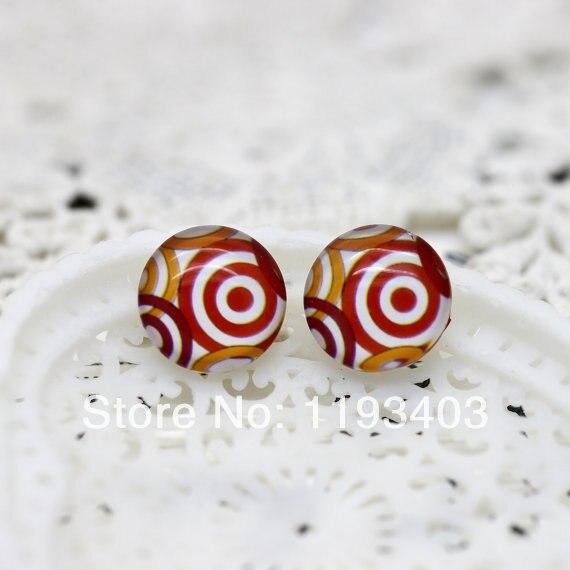 Min.mix order($9.9) 40pcs 12mm Handmade Photo Round Glass Cabochon beads-Image Glass Cabochon-(Flowers )-(HPGC-215)