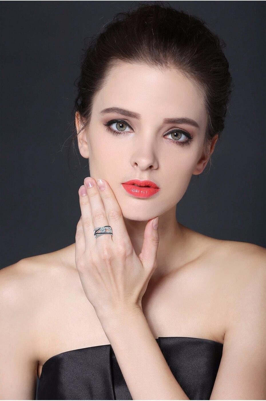 HTB1kJ15b5qAXuNjy1Xdq6yYcVXai [BLACK AWN] 925 Sterling Silver Rings for Women Hollow Engagement Ring Bijoux Bague Gift Sterling Silver Jewelry C012