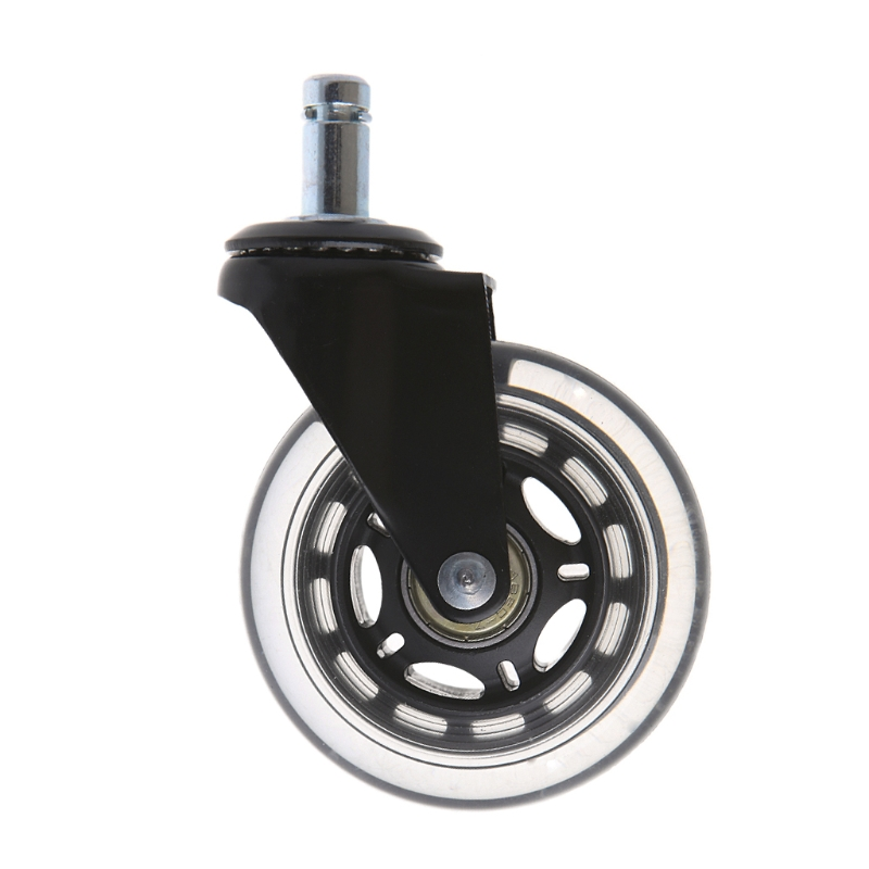 OOTDTY Universal 2.5/3 PU Rollerblade Style Office Chair Wheels Replacement Rolling Caster siemens da 410 im black