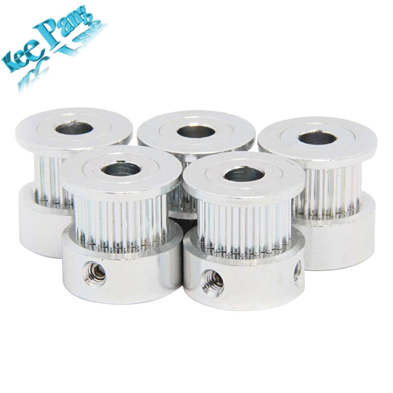 GT2 20 tooth Timing Pulley Aluminum 3D Printer Parts 2GT 20teeth Bore 5mm Width 6mm Part Synchronous Wheel Gear with Screw Teeth infiniti x pulley printer parts 20 teeth