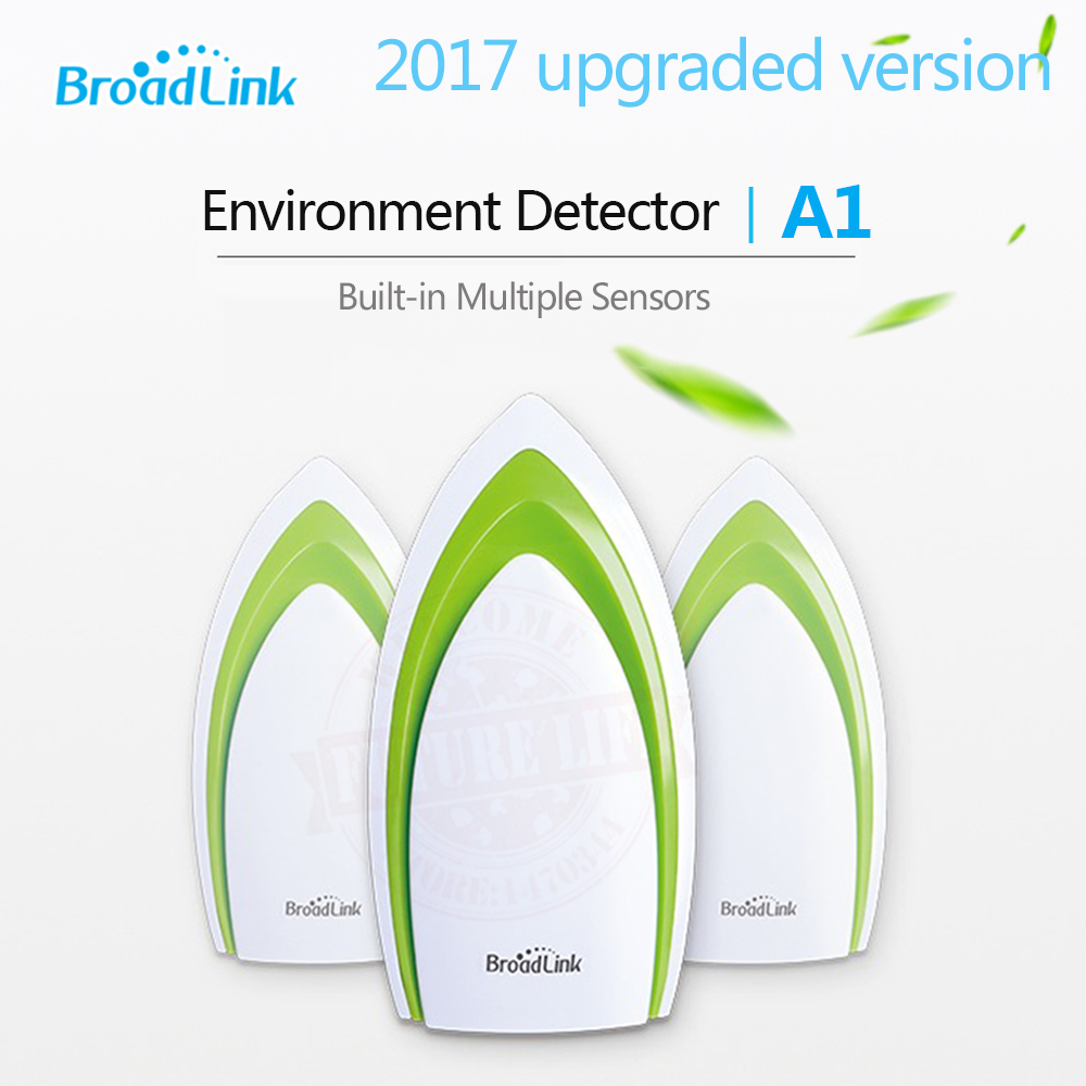 2017 Broadlink A1 Smart Home Sensor Temperature Humidity Sensor Air Quality Light Gas Sound Sensor Wireless