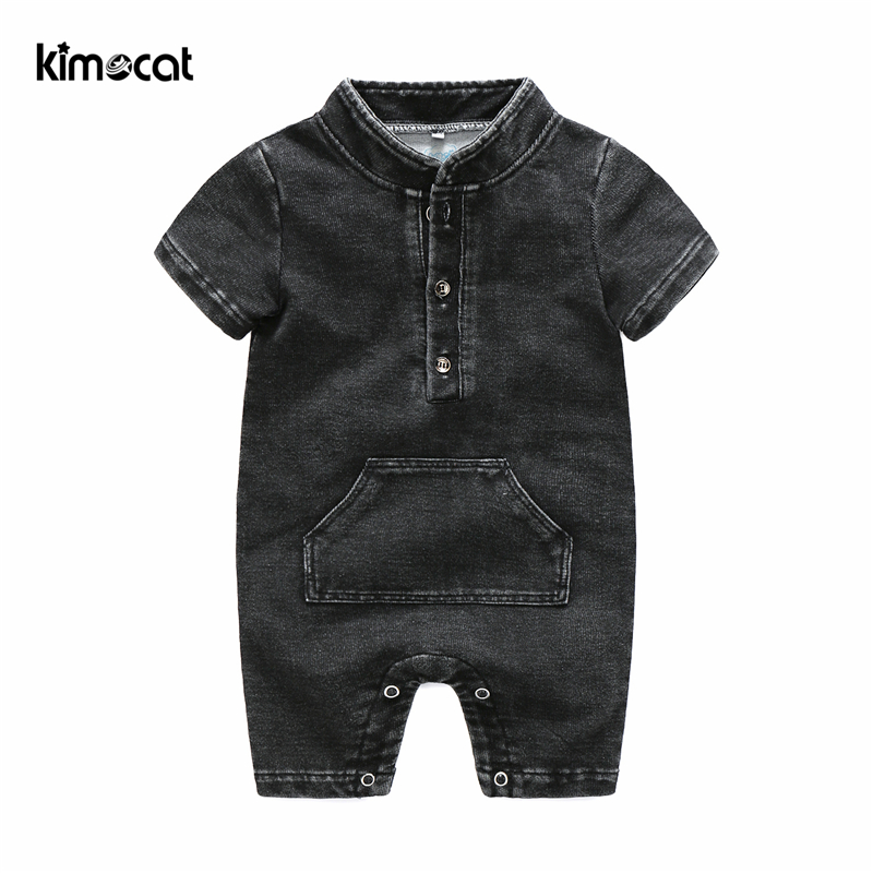 Kimocat Newborn Baby Boy Girl Clothes Short Sleeve Summer   Rompers   Cotton NL Lucky Child Baby Costume Clothing Infant Jumpsuit