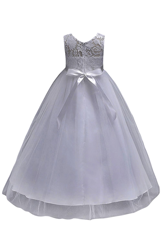 Темно-синий петитес Фий мантия Принцесса кружева цветок девочки платья тюль 2019 Peagant девочки платья Первое причастие платья