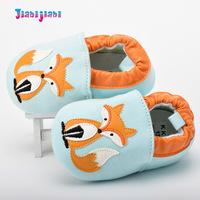 Moccasins Infant Girl Boys Prewalkers Shoes Toddler Fox Pattern Cotton Fabric First Walkers Baby Soft Shallow