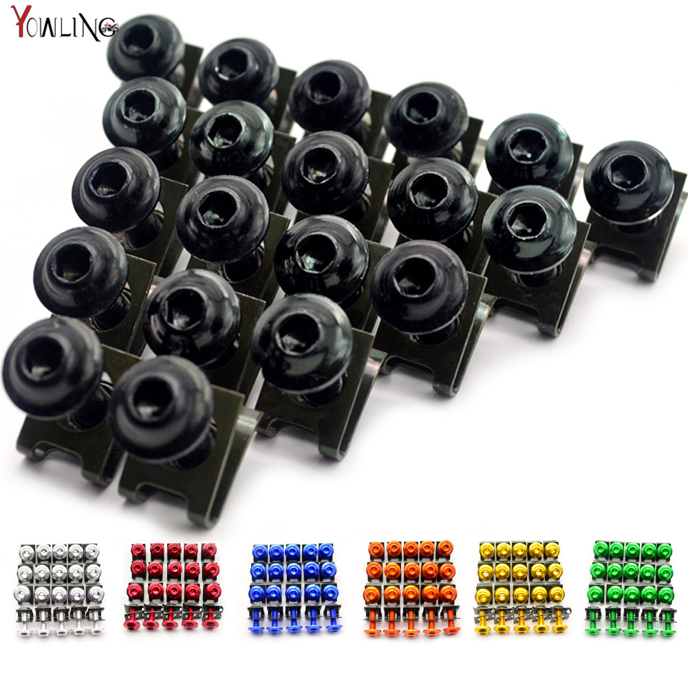 20pcs 6mm Motorcycle accessories <font><b>fairing</b></font> screw bolt screw FOR <font><b>YAMAHA</b></font> YZF <font><b>R1</b></font> R6 R3 2005 2006 2007 <font><b>2008</b></font> 2009 2010 2011 2012 2013 image