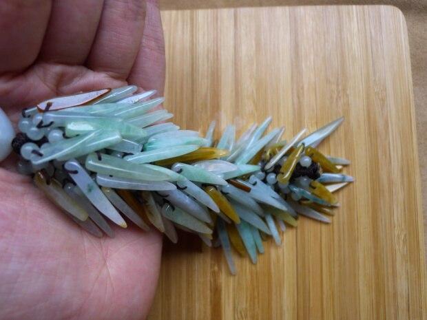 Pendentif de sac en jade naturel de birmanie | Pendentif suspendu, bijoux pendentif de trois voitures pour la paix, livraison gratuite