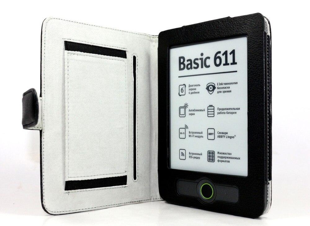 Für Pocketbook 611/613 Ebook Lederbezüge Mit Hand Halter Dhl-freies Verschiffen 100 Teile/los