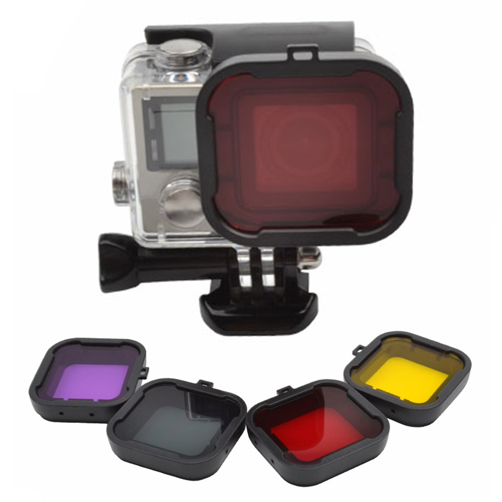 2020 New Gopro Accessories Diving Filter Underwater Dive Filtors For Go Pro Hero 3+ 4 Waterproof Case Action Camera Accessory