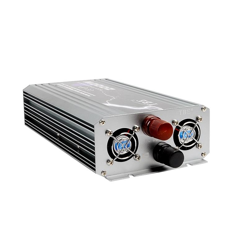 New Arrive 2000W Power Inverter 12V DC 220V Pure Sine Wave USB to AC 220V Solar Power Inverter Peak Power 4000W Free Shipping