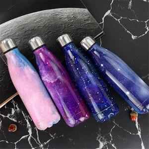 Image 3 - מותאם אישית 24 צבעים BPA משלוח מים בקבוק קפה תרמוס בקבוק נירוסטה בירה תה שייקר נייד נסיעות ספורט מבודד גביע