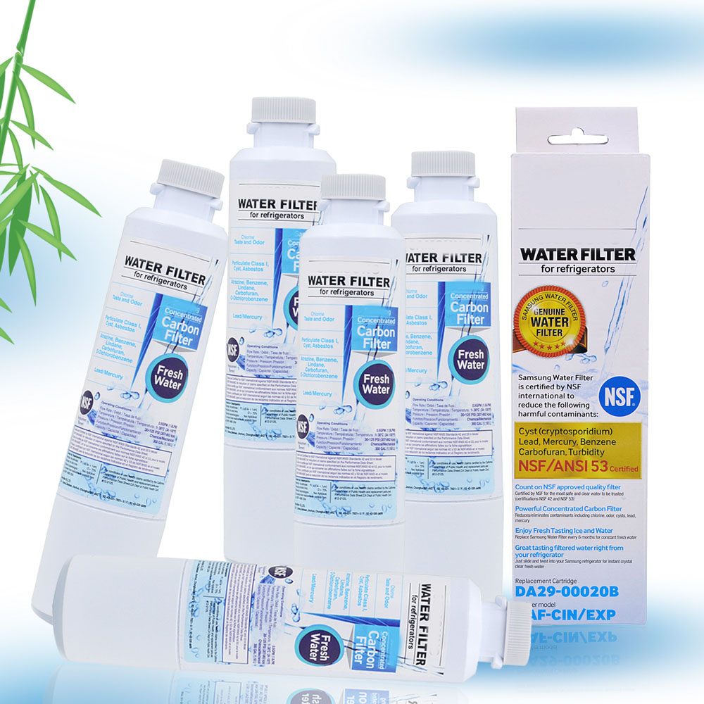 NEW Household Water Purifiers Refrigerator Water Filter Cartridge Activated Carbon Replacement for Samsung DA29-00020B 5 Pcs/lot hot sale household filter gre1011 refrigerator water filter kitchen activated carbon replacement for ge mwf mwfa 1piece