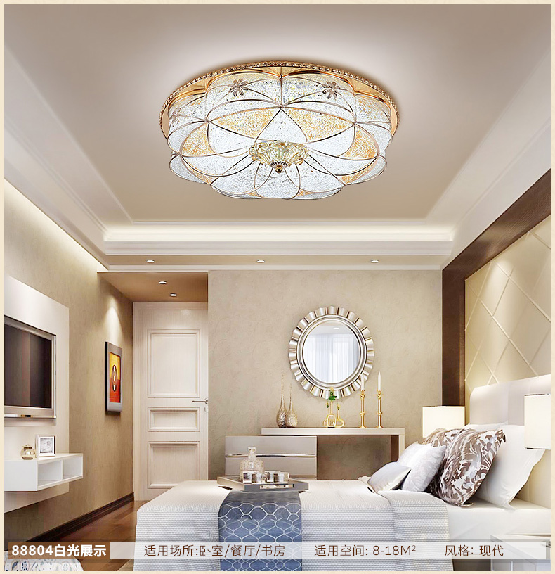 Современные светодиодный хрустальные светильники потолочные Круглый Железный подвеска свет Европейский спальня столовая RGB изменение