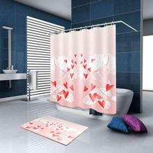 Waterproof Shower Curtains Polyester Bathroom Bath Curtain Products With 12pcs Hooks Home Decor