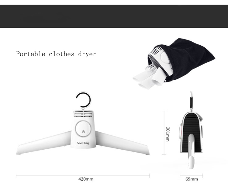 Intelligent Household Portable Dry Clothes Rack Drying Clothes Travel  Folding Clothes Dryer Quick Dry Shoes Business