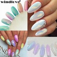 2016 Nne Mermaid Gradient Nail Glitter Powders Pretty Shimmer Powder Laser Dust Nail Art Decorations Chrome Nail Powder