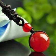 Obsidian Pendant Necklace Fashion Men Women Couple Style Transfer Beads Single Pendants Necklaces Jewelry