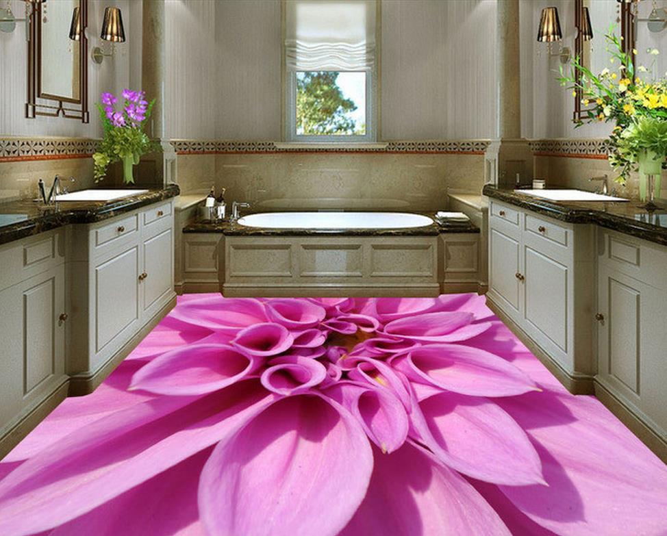 wallpaper for floor Chrysanthemum Family Bathroom 3D Stereo Floor Tile pvc self-adhesive wallpaper mukund shiragur d p kumar and venkat rao chrysanthemum genetic divergence