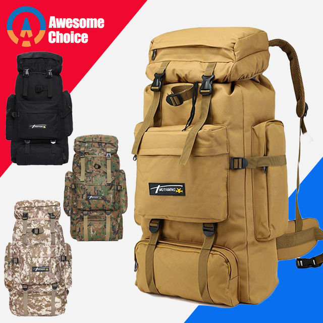 70L Outdoor Backpack Molle Military Tactical Backpack Rucksack Sports Bag Waterproof Camping Hiking Backpack For Travel 1