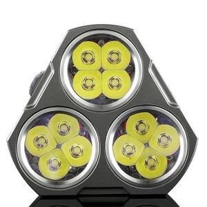 Image 2 - Manker mk34 led 손전등 8000 루멘 12x 크리 xpg3/6500lm 12x nichia 219c led + 3x 높은 드레인 3100 mah 18650 배터리 (30a)