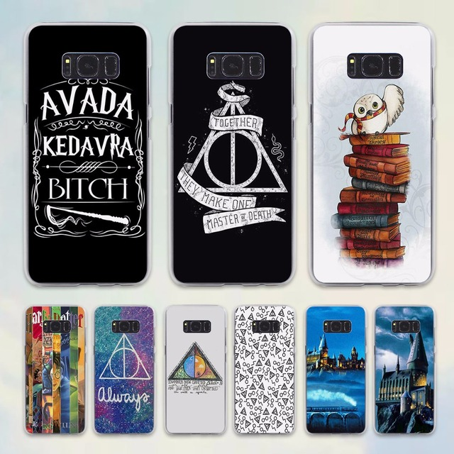 official photos f251c be6e9 US $1.97 34% OFF|Avada Kedavra bicth Unique Harry Potter Spell style  transparent phone shell Case for Samsung Galaxy S8 S8 Plus note 5 4 S6 S7  ed-in ...