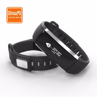 D W L Smartband M2 Heartrate Blood Pressure Monitor Oxygen Oximeter Smart Wristband Bluetooth Pedometer Fitness