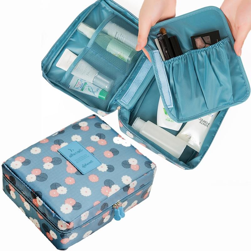 Brand Make Up Bag Women Cosmetic Bag Wash Bag Toilet Organizer Cosmetic Case Nylon Multifunctional Waterproof Zipper Makeup Bag