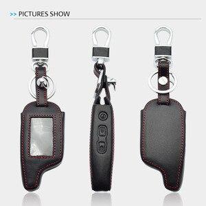 Image 5 - עור מפתח מקרה עבור פנדורה DXL 3000 3100 3170 3300 3210 3500 3700 שתי בדרך LCD מרחוק fob כיסוי Keychain תיק