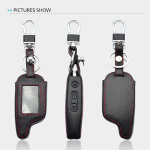Image 5 - Leather Key Case For Pandora DXL 3000 3100 3170 3300 3210 3500 3700 Two Way Car Alarm System LCD Remote Fob Cover Keychain Bag