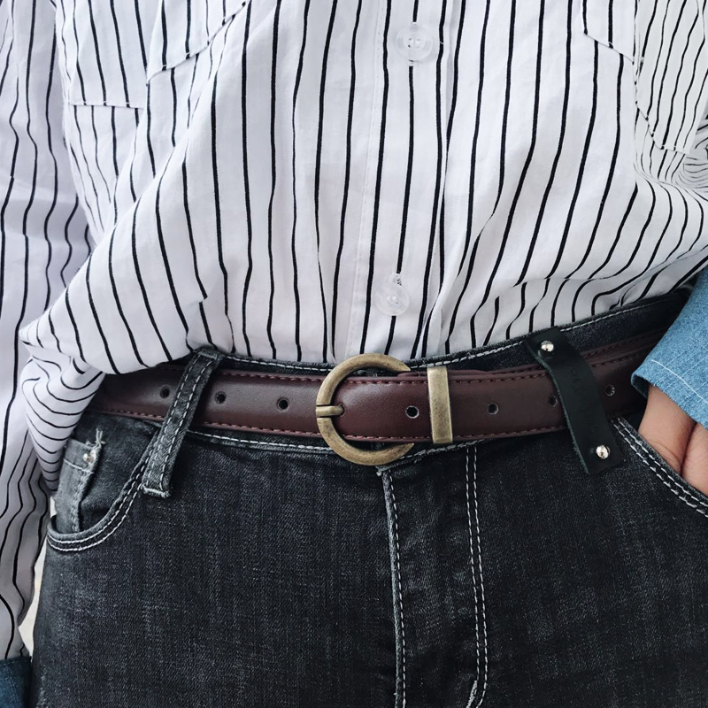 Women Leather Belts Pin Buckle Belts For Women Brown Waistband Female Jeans Belt Woman Waistbands Lady Cintos Ceinture Students