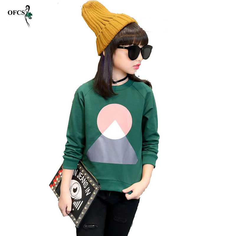 New Leisure Kids Children s Clothing Girl s Autumn Geometric Patterns Knit Sweater T shirt Coat