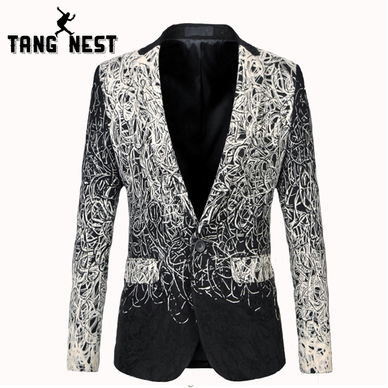 TANGNEST Men Blazers Pockets Single-Button Asian-Size Casual Fashion New-Design Masculino