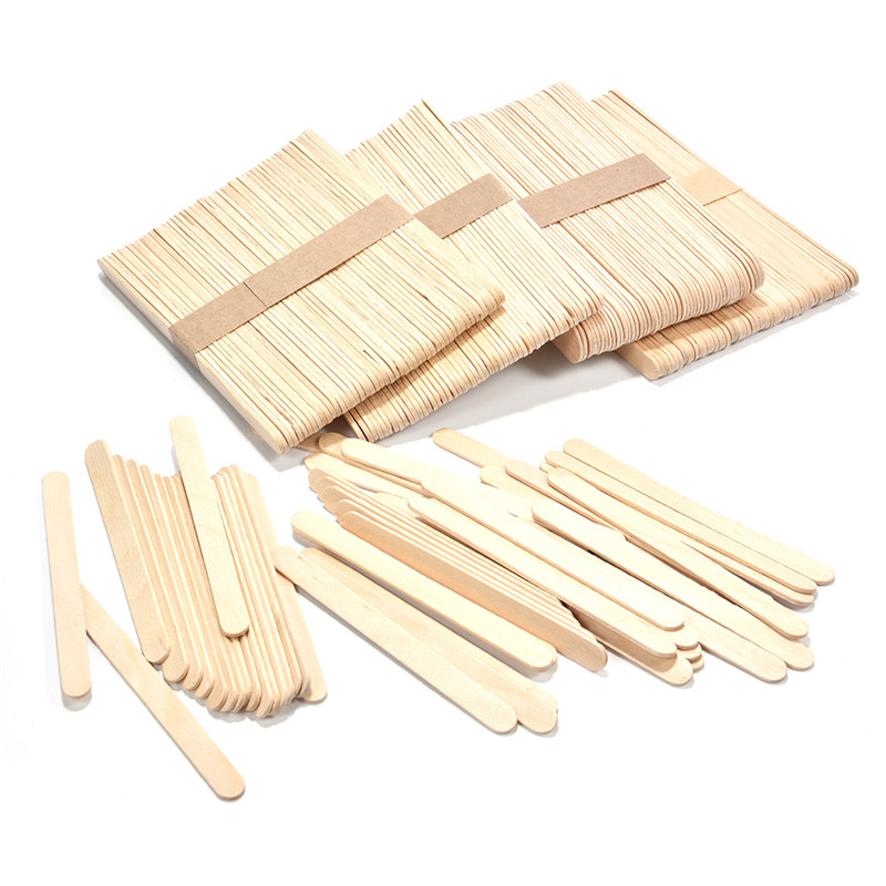 50Pcs Wooden Popsicle Stick Kids Hand Crafts Art Ice Cream Lolly Cake DIY Making Funny Ice Cream Stick in Ice Cream Sticks from Home Garden