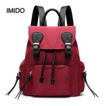 Имидо бренд 2017 холст рюкзак женщины подростков школьные сумки для девочек Bagpack рюкзаки путешествия через плечо Mochila Feminina SLD038