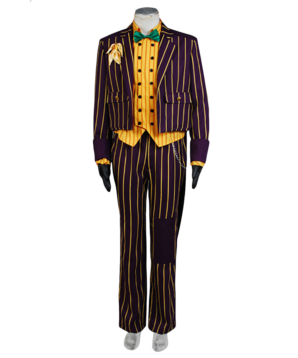 Batman Costume Arkham Asylum Joker Cosplay Costume Tuxedo Adult Men Uniform Haloween Movie Cosplay Costume