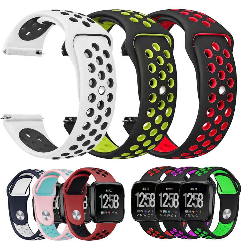 Silicone Watch Strap For Amazfit Bip WatchBands 22mm 20mm Galaxy Watch 46mm Samsung Gear Sport S2 S3 Frontier Classic Watch Band