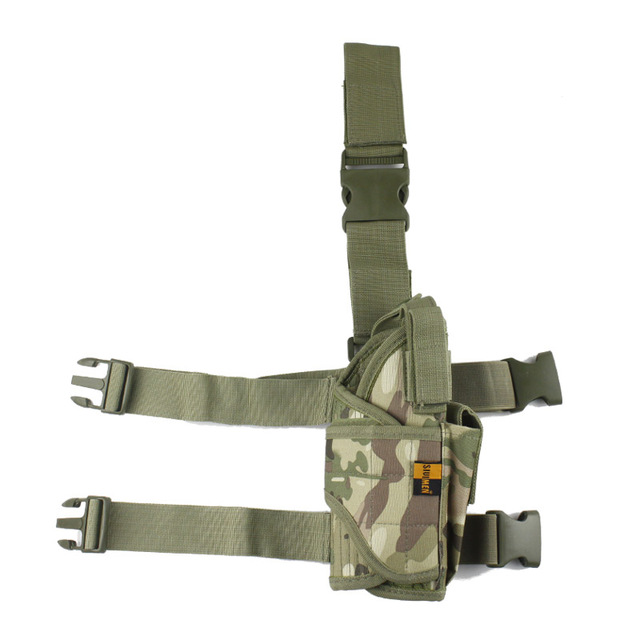 Adjustable  Military Airsoft Holster Hunting Tactical Pistol Drop Leg Holster Thigh Gun Holster for right hand  4