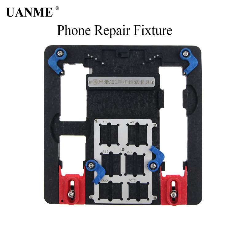 UANME Multi Mobile Phone Repair Board PCB Holder For iPhone 8 8plus 7 6 6s Plus 5S For A7 A8 A9 A10 Logic Board Chip Fixture newest circuit board pcb holder jig fixture work station for iphone 8 7 6sp 5s logic board a8 a9 a10 chip repair tool