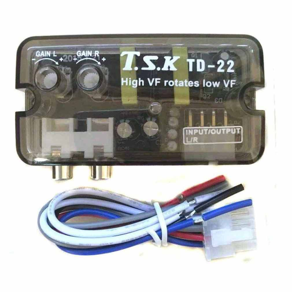 12V TD-22 Car Vehicle Stereo Channel High to Low Amplifier Delayer Car Audio Adjustment Plug and Play