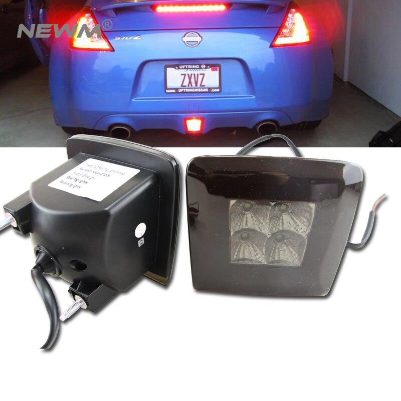 Dark Re Lens Rear Fog Light LED Assembly For 2009 up Nissan 370Z Integrated Rear Fog