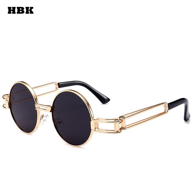 HBK Gothic Steampunk Sunglasses Men Women Metal Wrap ...