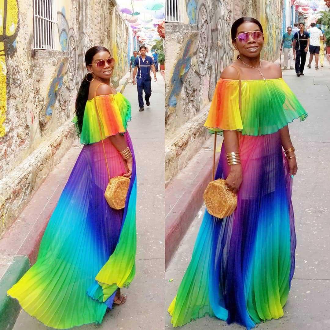 2019 New Style African Women Clothing Dashiki Fashion Print Elastic Cloth Long Sleeves Dress Super