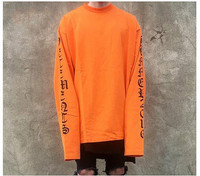 2017 New Hot Extra Long Sleeved T Shirt Swag High Street Fashion Tops Vetements Oversized Loose