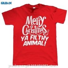 a38acd1e GILDAN Merry Christmas Ya Filthy Animal Funny T Shirt Gift Secret Santa  Stocking Filler T-