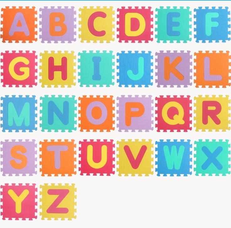 Children's Baby Crawling Mat,thickening 1cm EVA Foam Play Puzzle Mat / Letter A-Z Interlocking Floor Mat